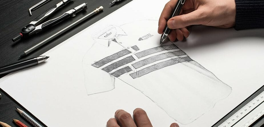 Custom Polo Shirts for work being designed by Fenix designers