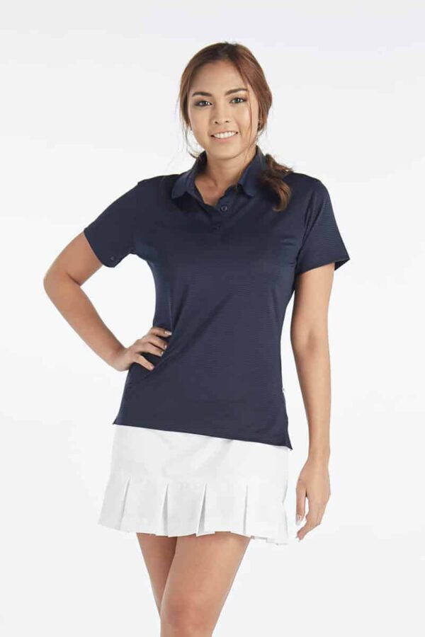 Ladies Navy Short Sleeve Golf Polo Shir