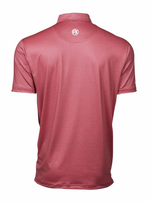 Leven Coral Back golf polo shirt