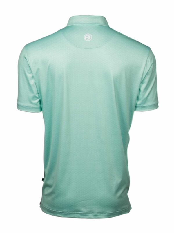 Leven Neo Mint Back golf polo shirt