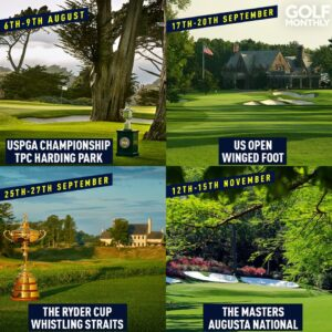 Dates of the four major golf championships