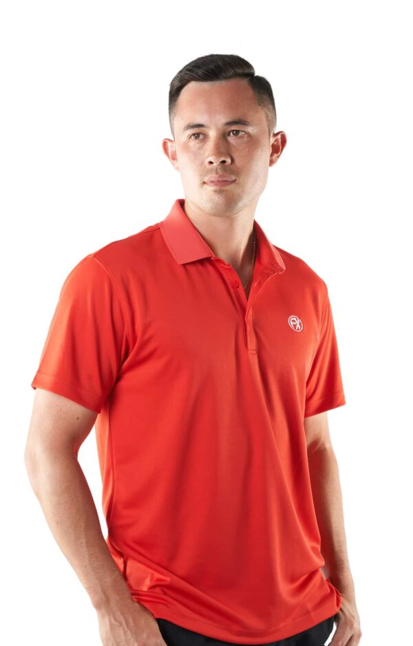 Mens golf polo shirt dry fit with comfortable feel
