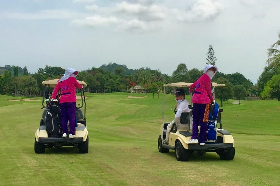 Golfs new safety rules include caddies on the back of carts
