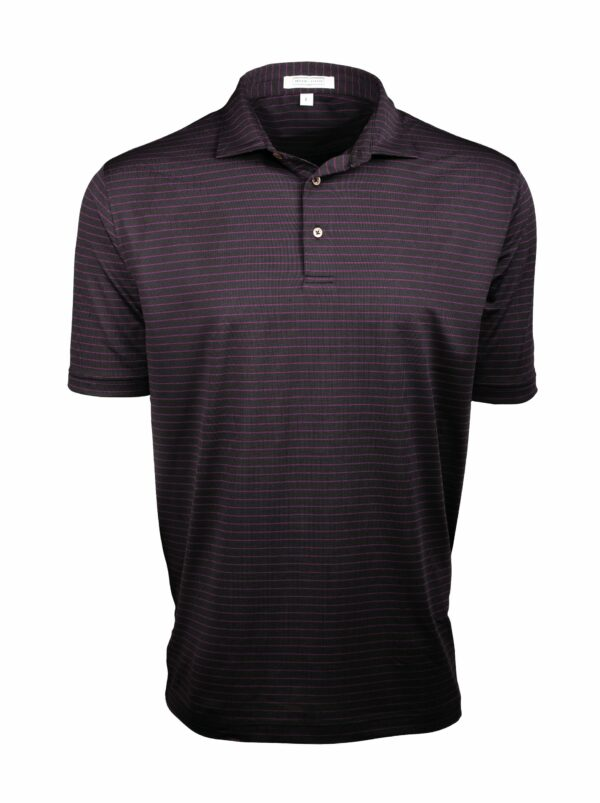 Black Pinstripe Polo Shirt