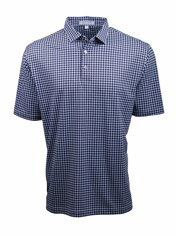 Fenix XCell PE blue and white checked polo shirt for men