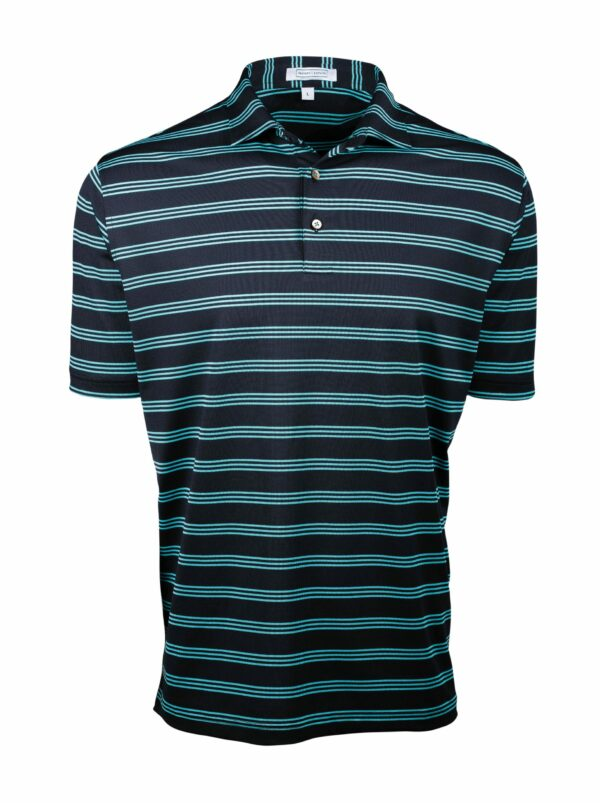Fenix XCell PE black and green cross striped polo for men
