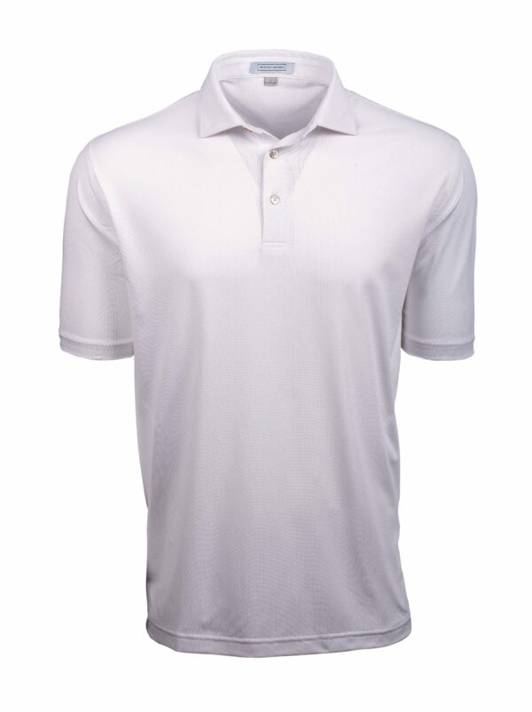 Fenix XCell PE check print white polo shirt for men