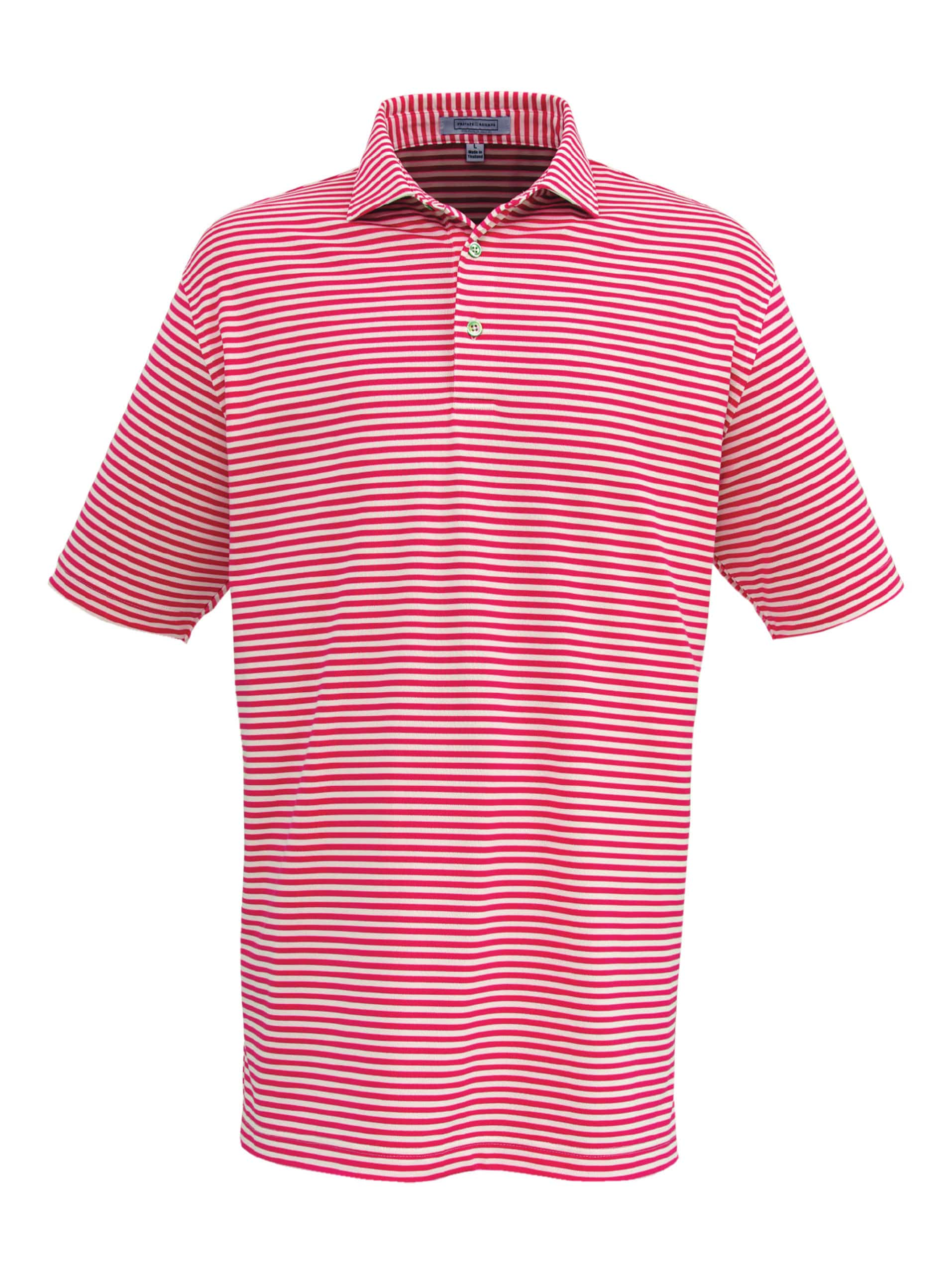 Cranberry striped Private Estate polo shirt for men