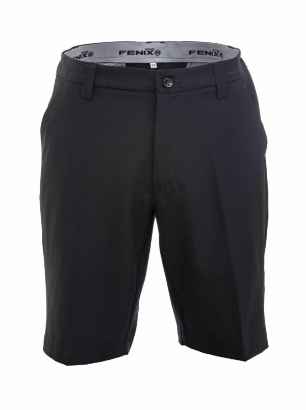 Fenix XCell black golf shorts front view