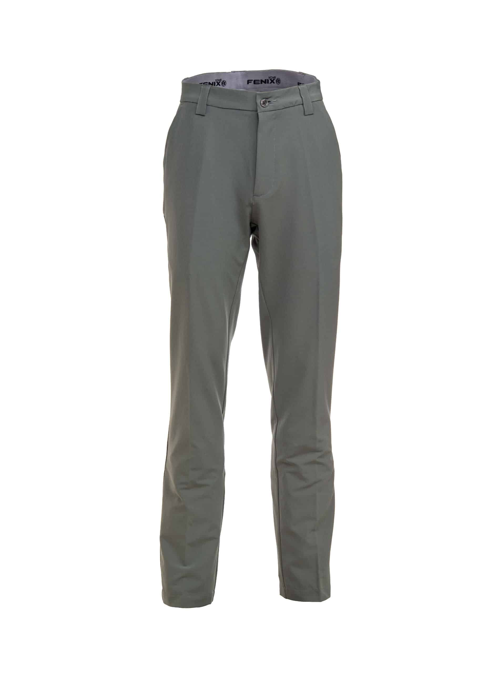 Fenix XCell Men's grey golf trousers front view