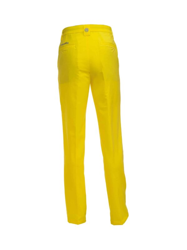 Fenix XCell Men's blazing yellow golf trousers back view