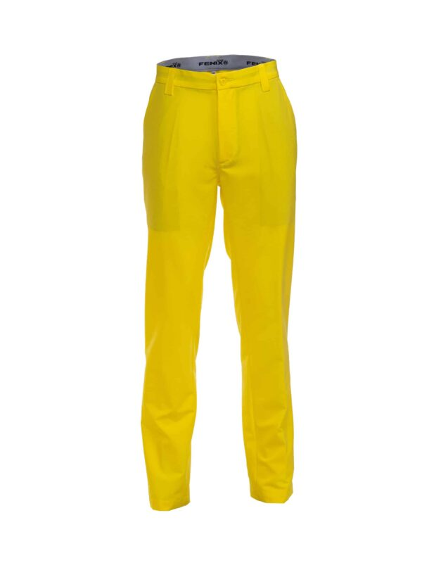 Men's blazing yellow golf trousers are made for comfort and performance
