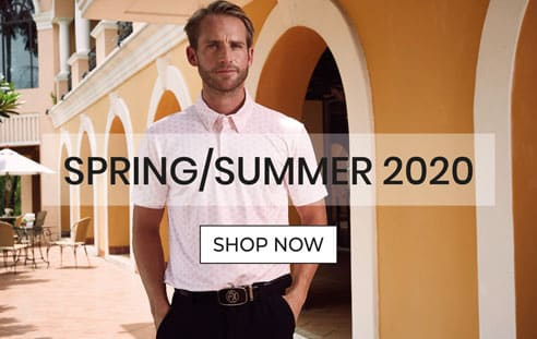 Model wearing Fenix XCell Spring Summer golf collection