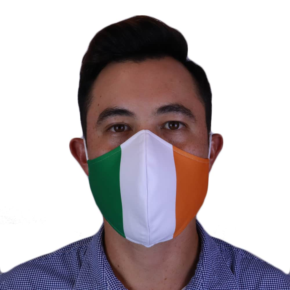 Man Wearing Fenix XCell Ireland Face Mask front view