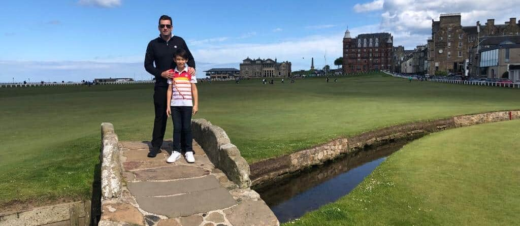 Owner of Fenix XCell and son at St Andrews