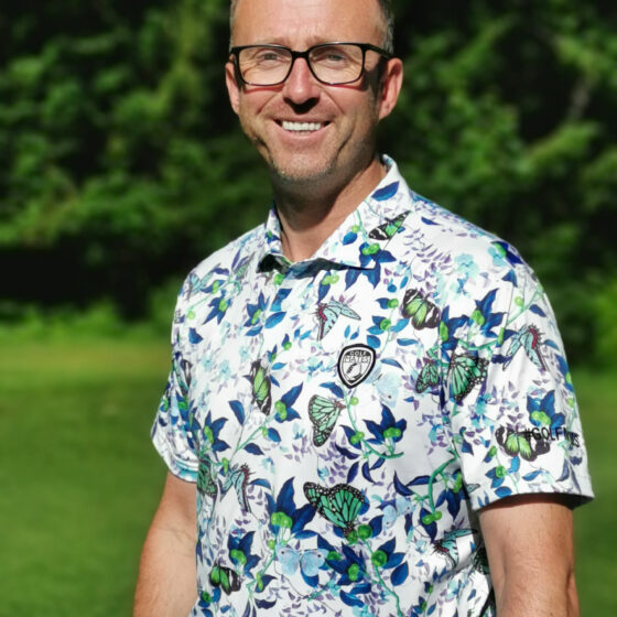 golf mates butterfly white polo shirt