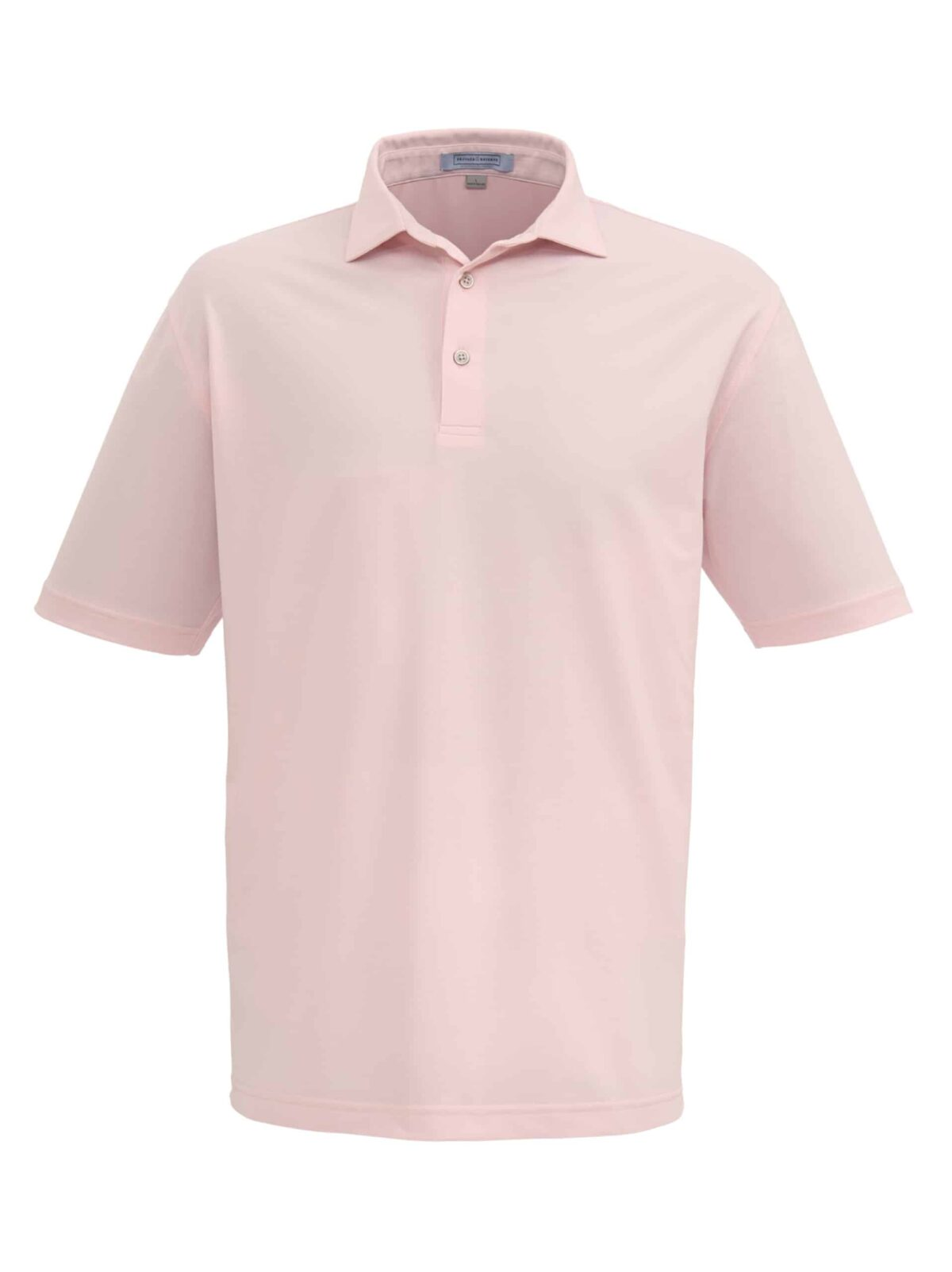 solid pink mens golf polo shirt