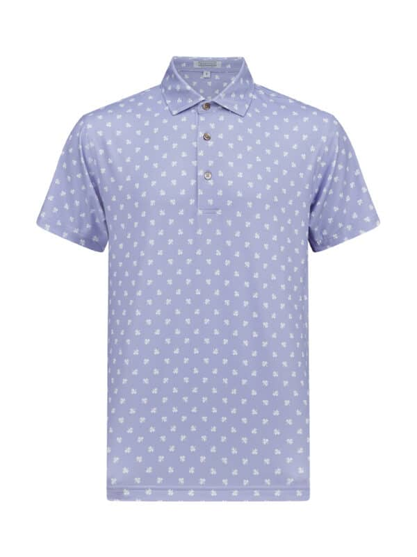 Scituate Lavender White Front golf polo shirt